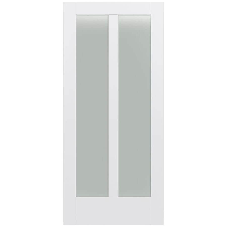 JELD-WEN Moda Solid Core 2-Lite Frosted Glass Slab Interior Door (Common: 36-in x 80-in; Actual: 36-in x 80-in)