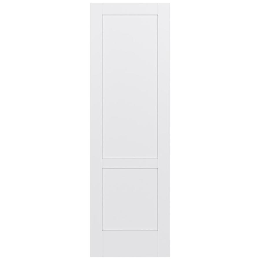JELD-WEN MODA Primed Solid Core MDF Pine Slab Interior Door (Common: 30-in x 96-in; Actual: 30-in x 96-in)