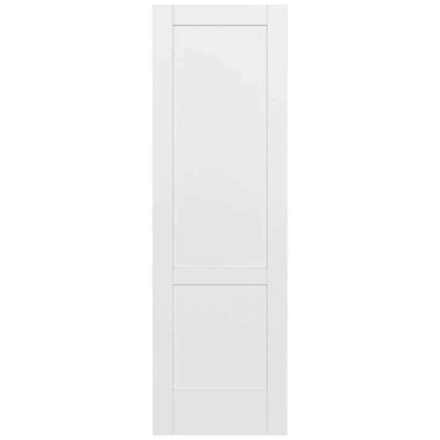 JELD-WEN MODA Primed Solid Core MDF Pine Slab Interior Door (Common: 32-in x 96-in; Actual: 32-in x 96-in)
