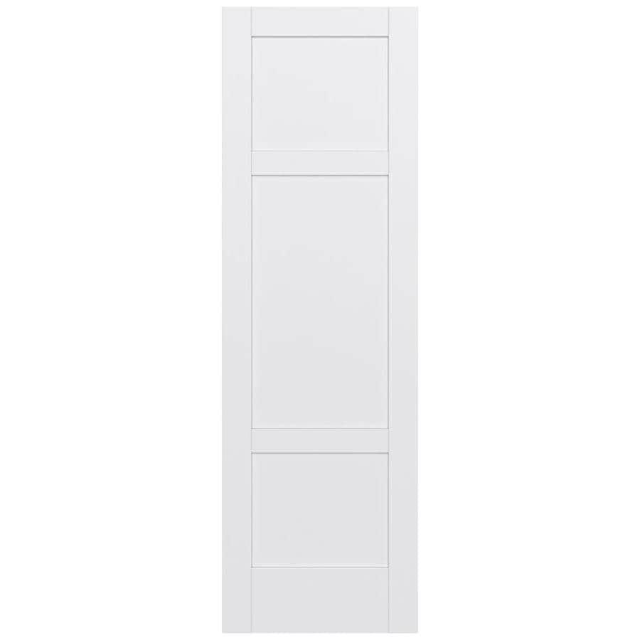 JELD-WEN Moda Solid Core 3-Panel Square Slab Interior Door (Common: 24-in x 96-in; Actual: 24-in x 96-in)