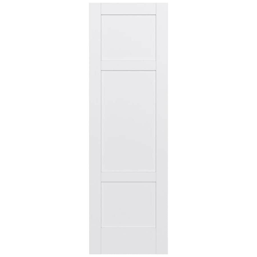 JELD-WEN Moda Solid Core 3-Panel Square Slab Interior Door (Common: 30-in x 96-in; Actual: 30-in x 96-in)