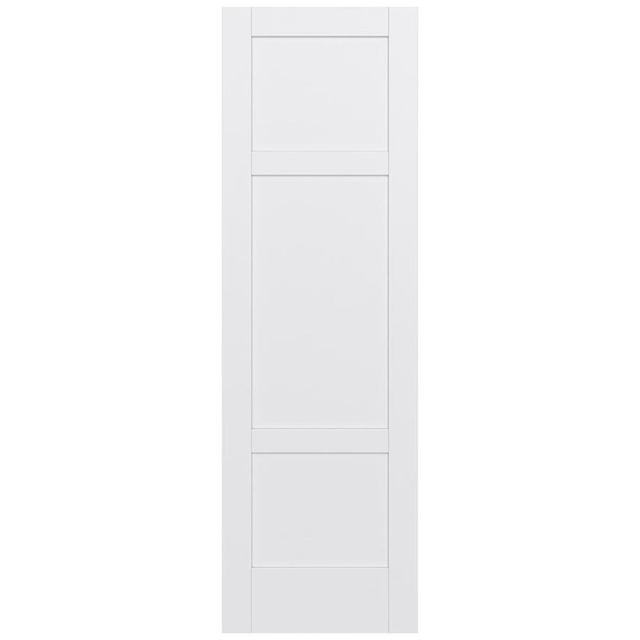Shop jeld wen moda primed solid core mdf pine slab for Solid core mdf interior doors