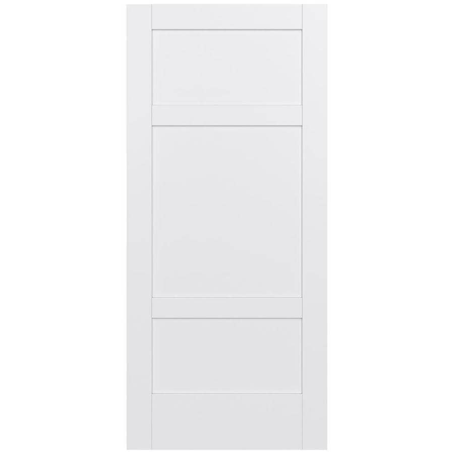JELD-WEN MODA 3-panel Square Pine Slab Interior Door (Common: 36-in X 80-in; Actual: 36-in x 80-in)