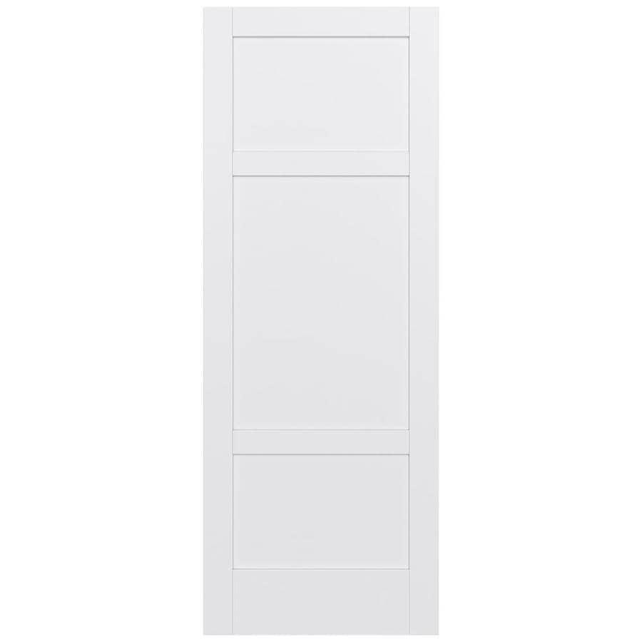 JELD-WEN MODA 3-panel Square Pine Slab Interior Door (Common: 36-in X 96-in; Actual: 36-in x 96-in)