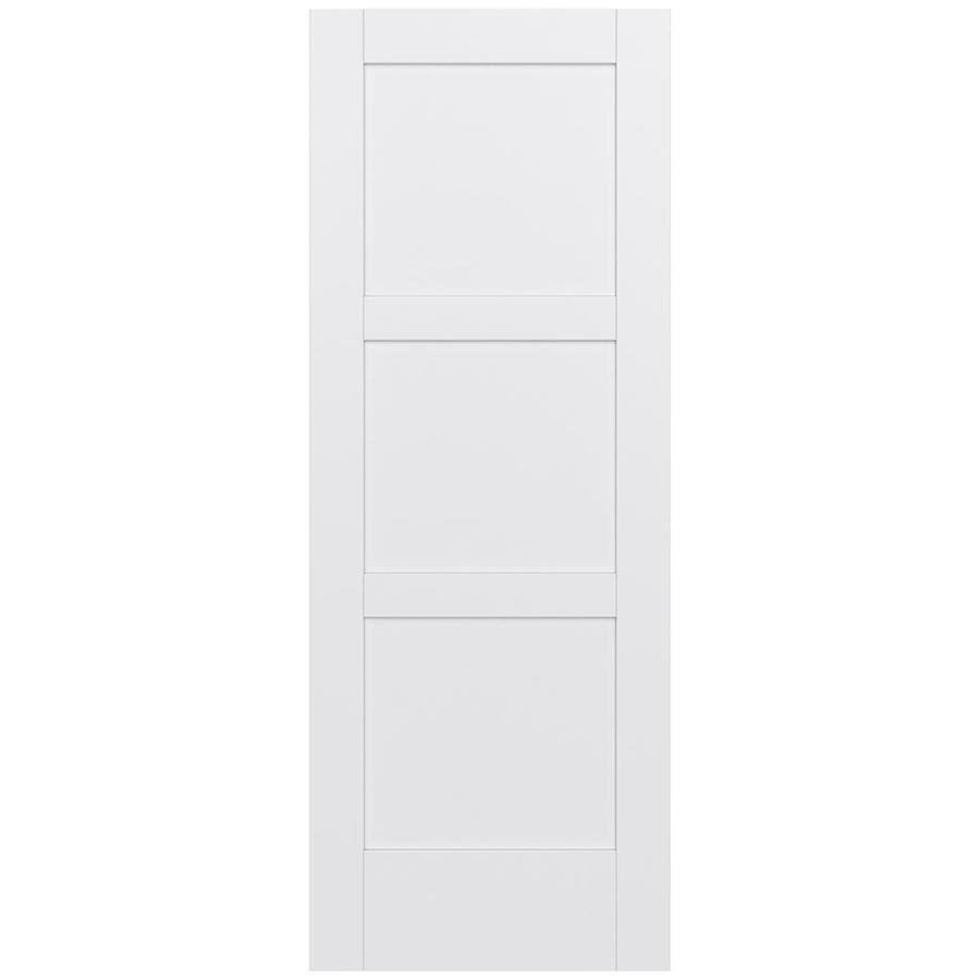 JELD-WEN Moda Solid Core 3-Panel Square Slab Interior Door (Common: 32-in x 80-in; Actual: 32-in x 80-in)