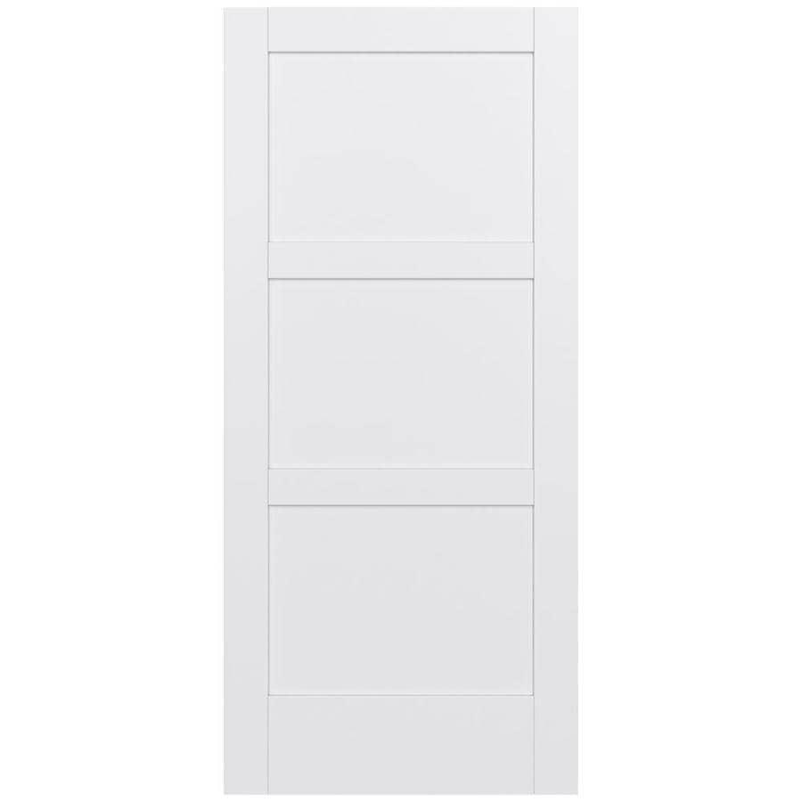 JELD-WEN Moda Solid Core 3-Panel Square Slab Interior Door (Common: 36-in x 80-in; Actual: 36-in x 80-in)