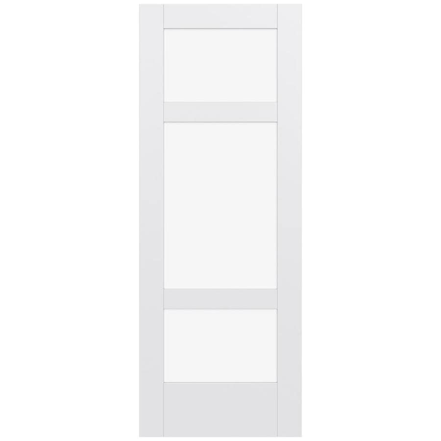 JELD-WEN Moda Solid Core 3-Lite Clear Glass Slab Interior Door (Common: 24-in x 80-in; Actual: 80-in x 80-in)