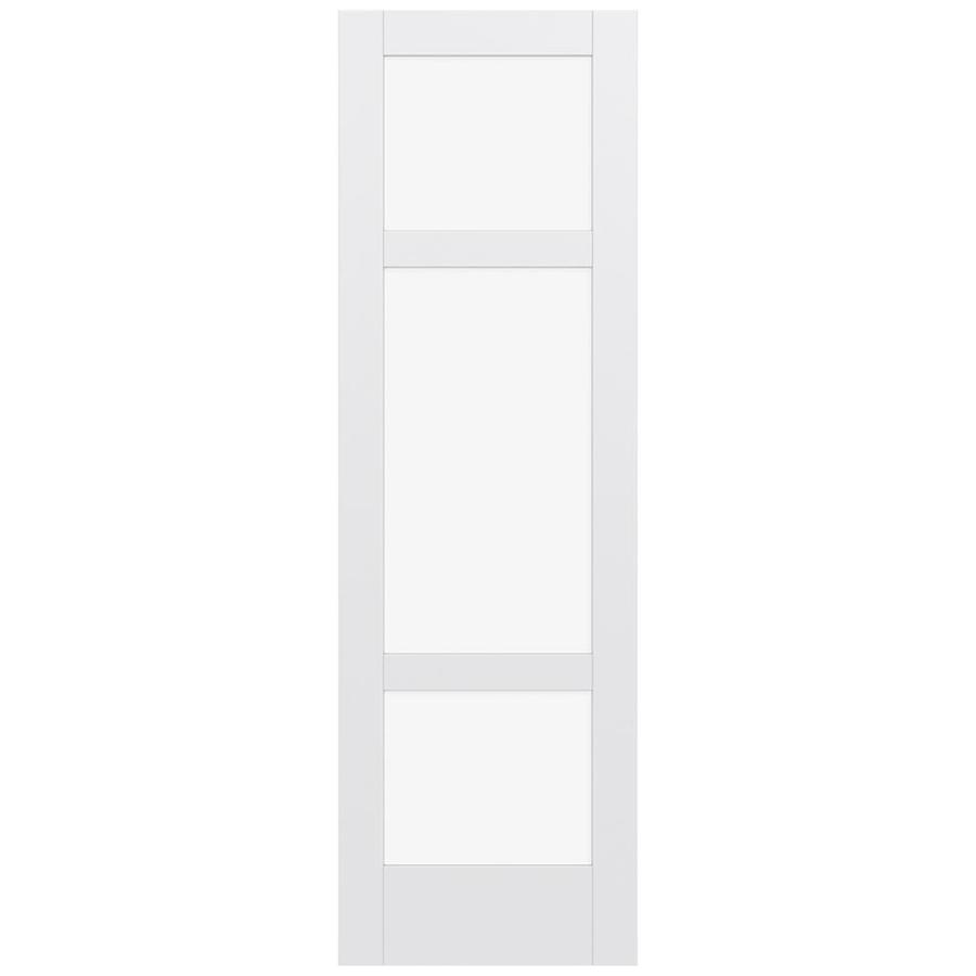 JELD-WEN MODA Primed Clear Glass Slab Interior Door (Common: 24-in x 96-in; Actual: 96-in x 96-in)