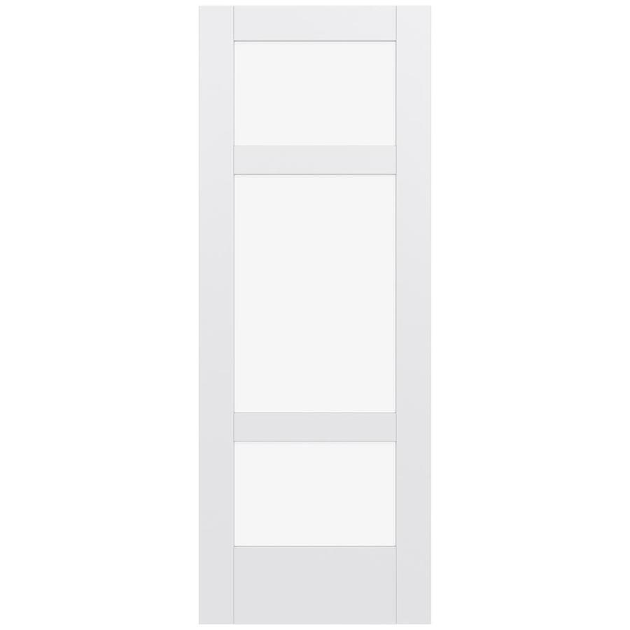JELD-WEN Moda Solid Core 3-Lite Clear Glass Slab Interior Door (Common: 30-in x 80-in; Actual: 80-in x 80-in)
