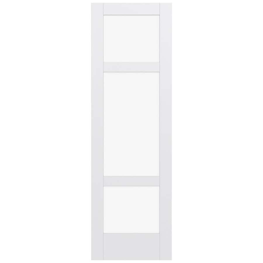 JELD-WEN MODA 3-lite Clear Glass Pine Slab Interior Door (Common: 32-in X 96-in; Actual: 32-in x 96-in)