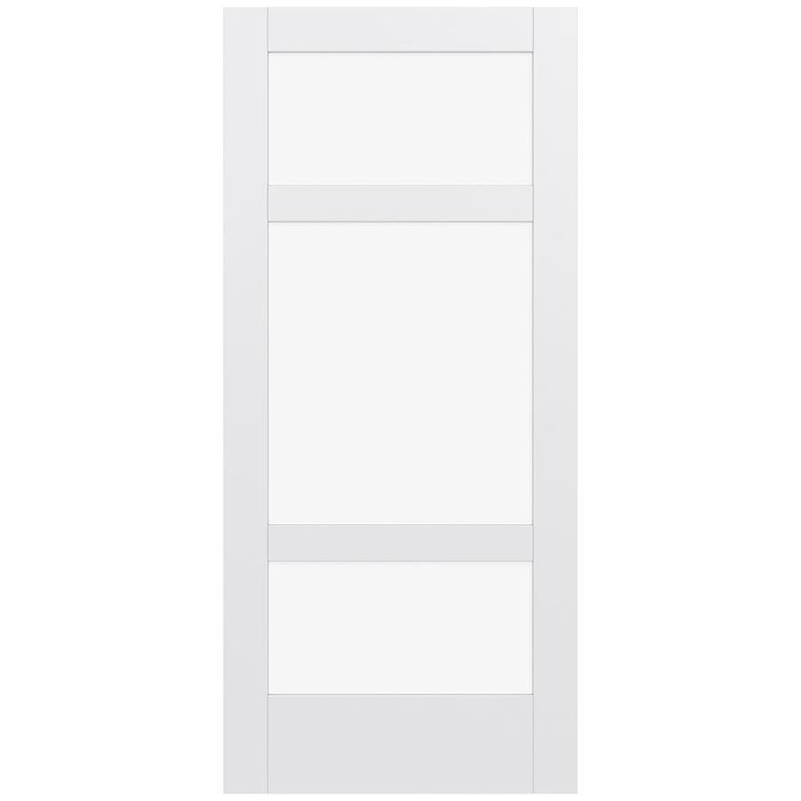 JELD-WEN MODA 3-lite Clear Glass Pine Slab Interior Door (Common: 36-in X 80-in; Actual: 36-in x 80-in)