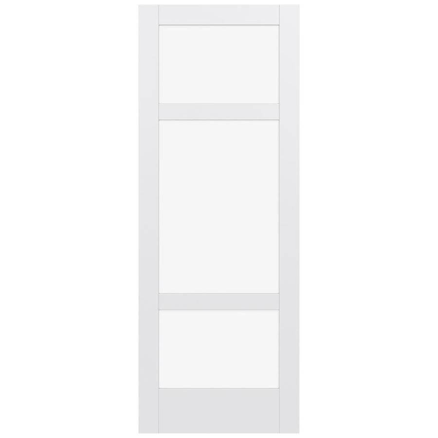 JELD-WEN MODA Primed Clear Glass Slab Interior Door (Common: 36-in x 96-in; Actual: 96-in x 96-in)