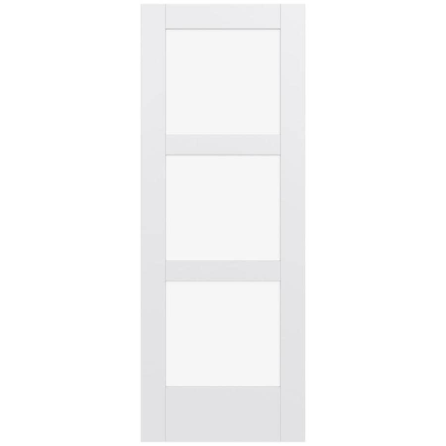 JELD-WEN Moda Solid Core 3-Lite Clear Glass Slab Interior Door (Common: 28-in x 80-in; Actual: 80-in x 80-in)