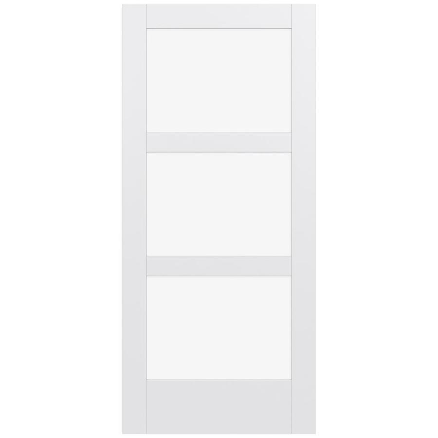 JELD-WEN Moda Solid Core 3-Lite Clear Glass Slab Interior Door (Common: 36-in x 80-in; Actual: 80-in x 80-in)