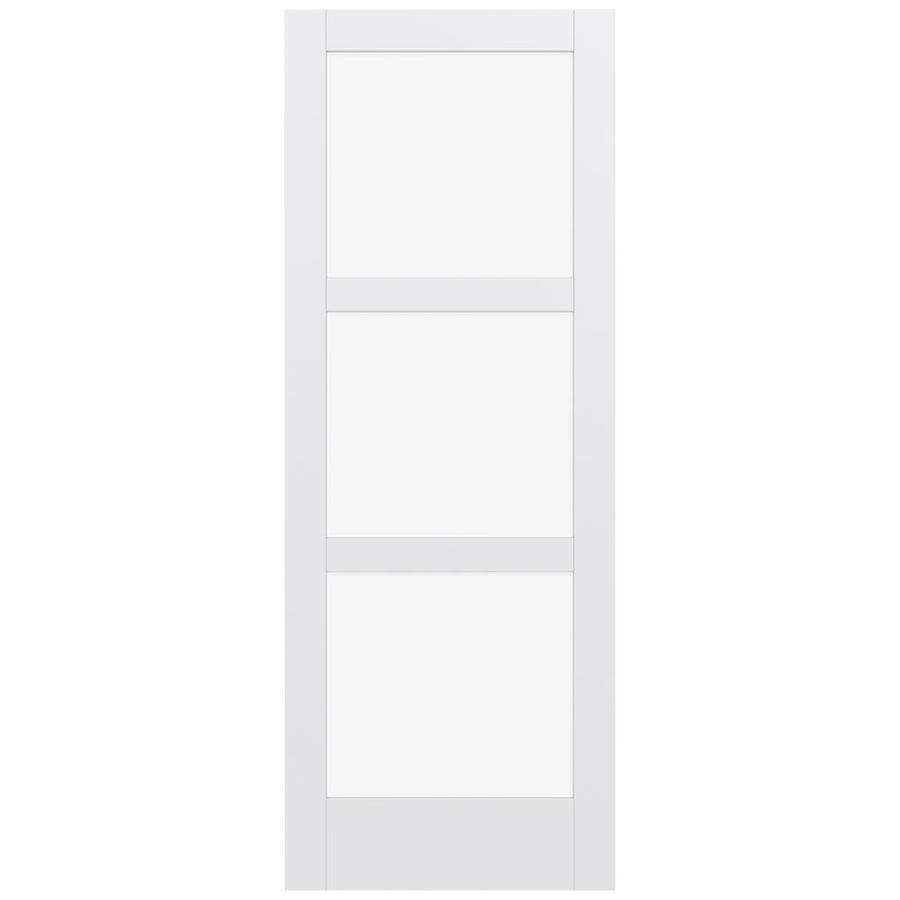 JELD-WEN Moda Solid Core 3-Lite Clear Glass Slab Interior Door (Common: 36-in x 96-in; Actual: 96-in x 96-in)