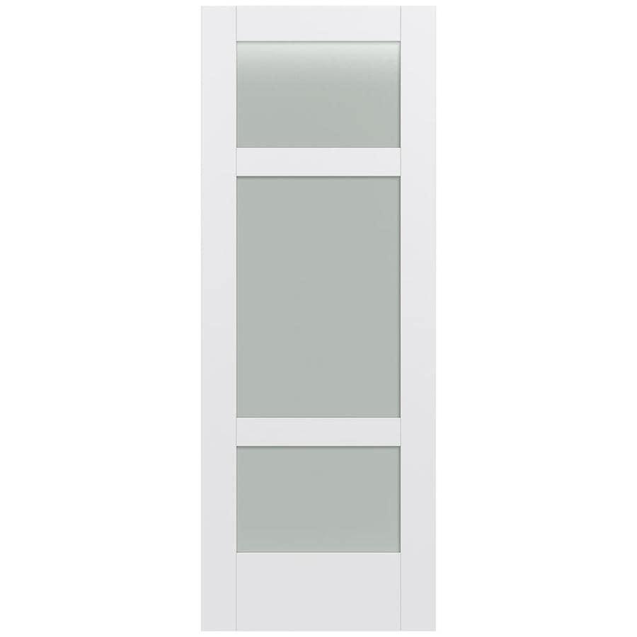 JELD-WEN MODA 3-lite Frosted Glass Pine Slab Interior Door (Common: 24-in X 80-in; Actual: 24-in x 80-in)