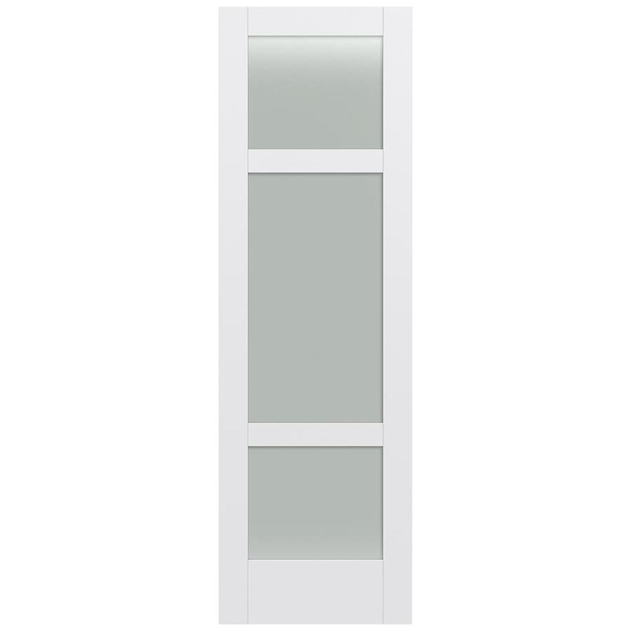 Shop Jeld Wen Moda Primed Frosted Glass Slab Interior Door Common 30 In X 96 In Actual 30 In