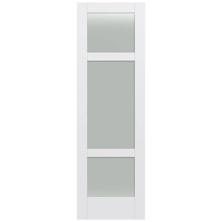JELD-WEN Moda Solid Core 3-Lite Frosted Glass Slab Interior Door (Common: 32-in x 96-in; Actual: 32-in x 96-in)