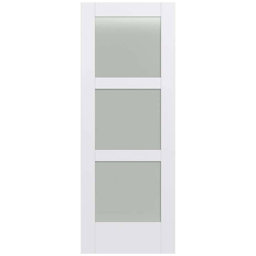 JELD-WEN Moda Solid Core 3-Lite Frosted Glass Slab Interior Door (Common: 24-in x 80-in; Actual: 24-in x 80-in)