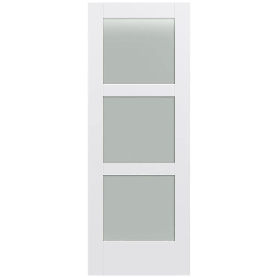 JELD-WEN MODA Primed Frosted Glass Slab Interior Door (Common: 32-in x 80-in; Actual: 32-in x 80-in)