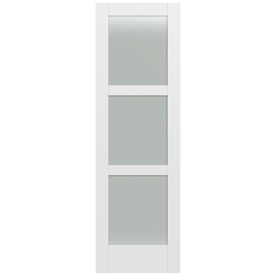 JELD-WEN MODA Primed Frosted Glass Slab Interior Door (Common: 32-in x 96-in; Actual: 32-in x 96-in)