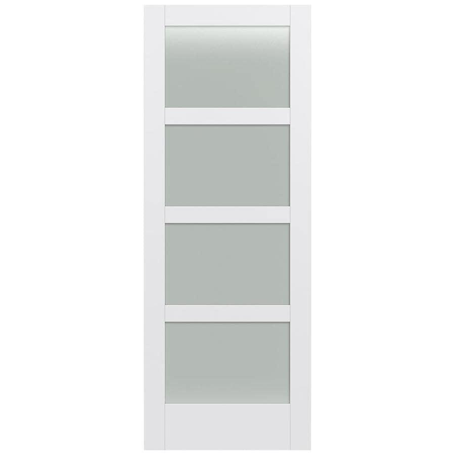 JELD-WEN MODA Primed Frosted Glass Wood Pine Slab Interior Door (Common: 36-in X 96-in; Actual: 36-in x 96-in)