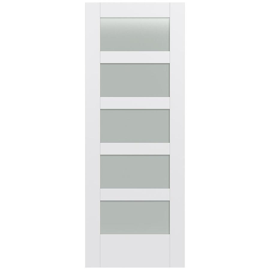 JELD-WEN MODA 5-lite Frosted Glass Pine Slab Interior Door (Common: 30-in X 80-in; Actual: 30-in x 80-in)