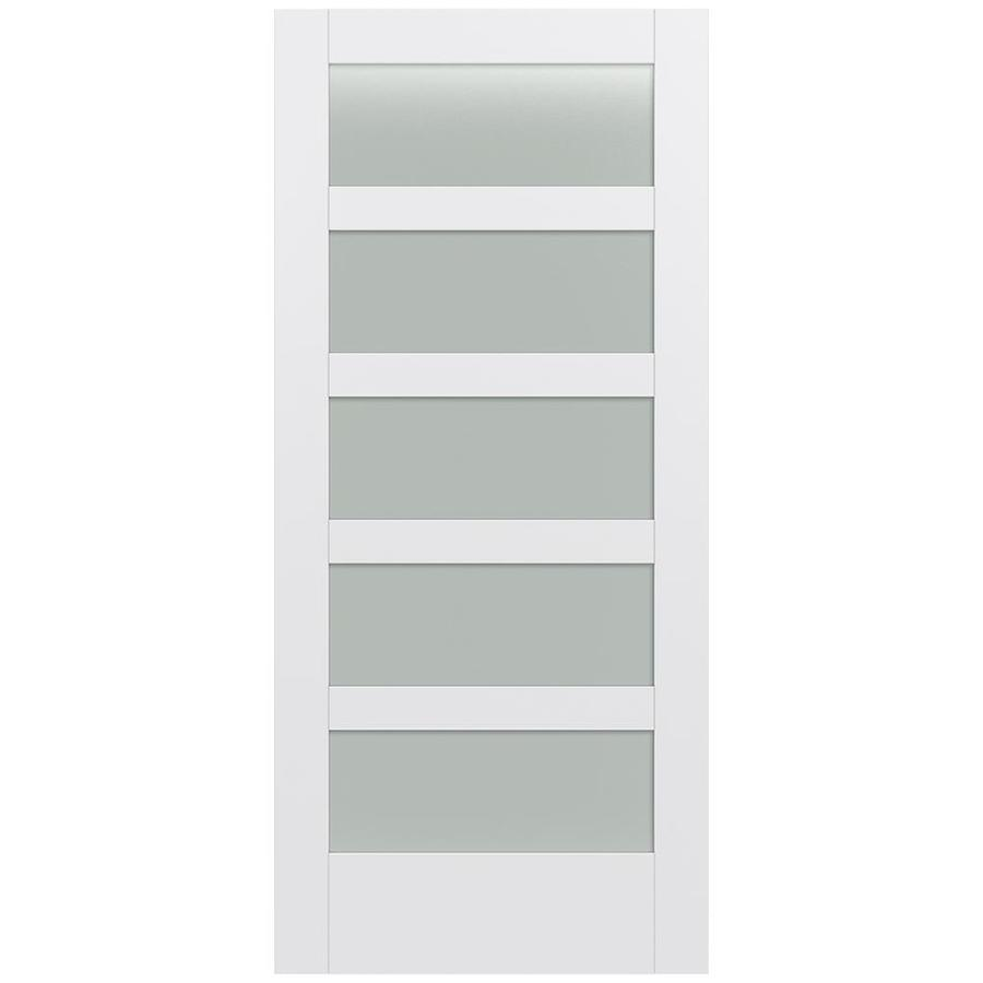 JELD-WEN MODA Primed Frosted Glass Slab Interior Door (Common: 36-in x 80-in; Actual: 36-in x 80-in)