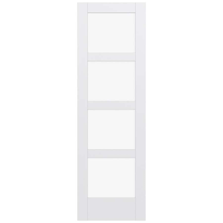 JELD-WEN MODA Clear Glass Pine Single Prehung Interior Door (Common: 24-in x 96-in; Actual: 25.5600-in x 97.6900-in)