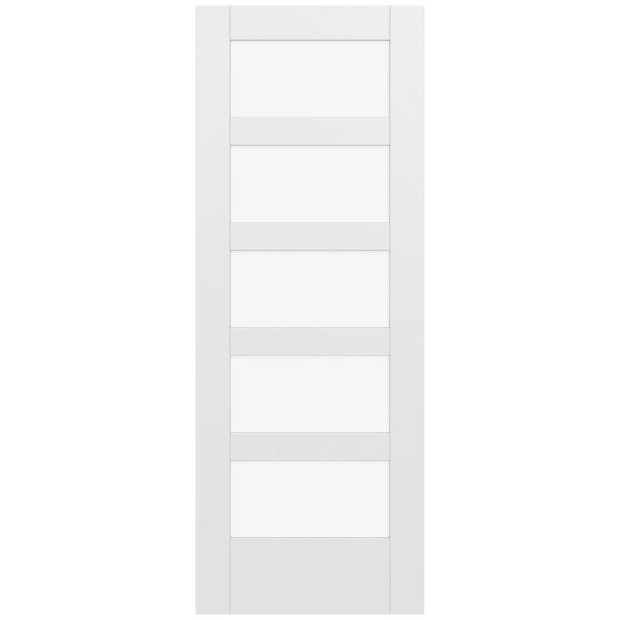 JELD-WEN Moda Solid Core 5-Lite Clear Glass Slab Interior Door (Common: 24-in x 80-in; Actual: 80-in x 80-in)