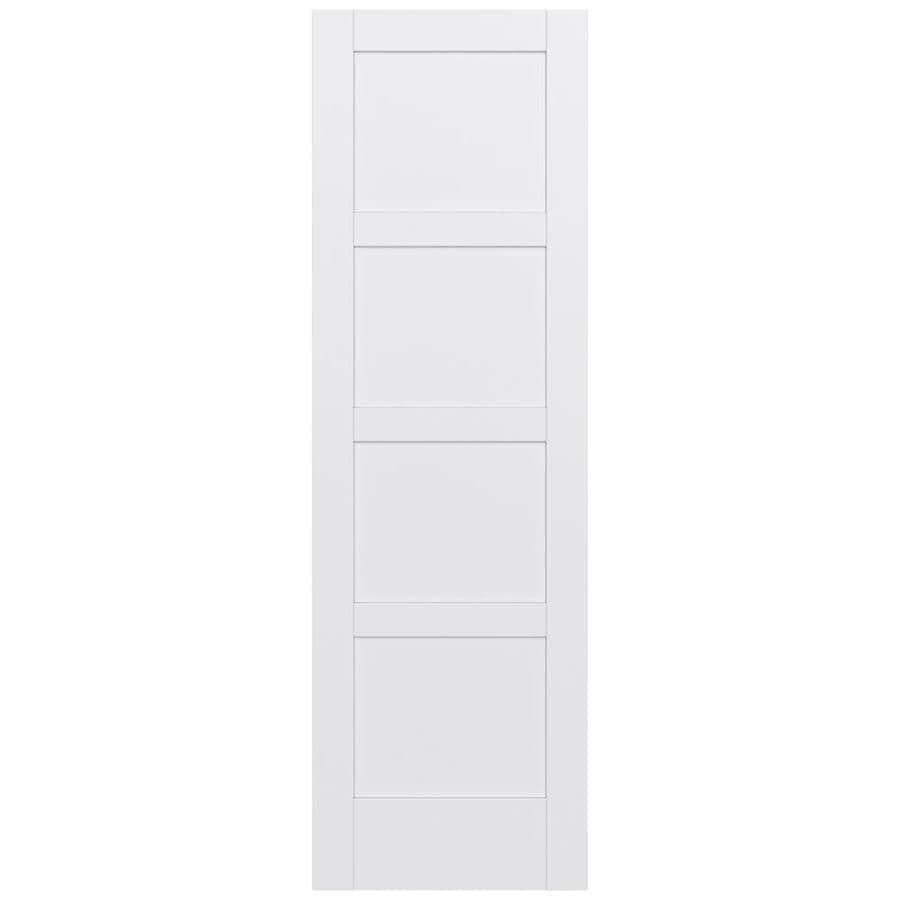 JELD-WEN Moda Solid Core 4 Panel Square Slab Interior Door (Common: 30-in x 96-in; Actual: 30-in x 96-in)