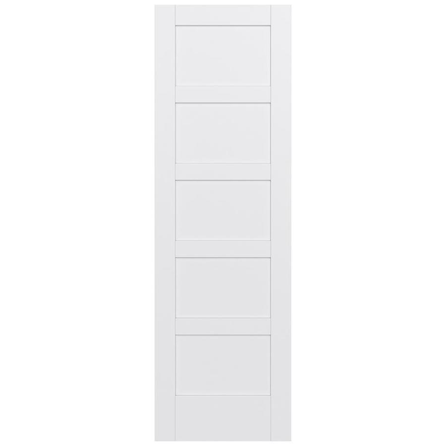 JELD-WEN MODA Primed Solid Core MDF Pine Single Prehung Interior Door (Common: 24-in x 96-in; Actual: 25.5600-in x 97.6900-in)