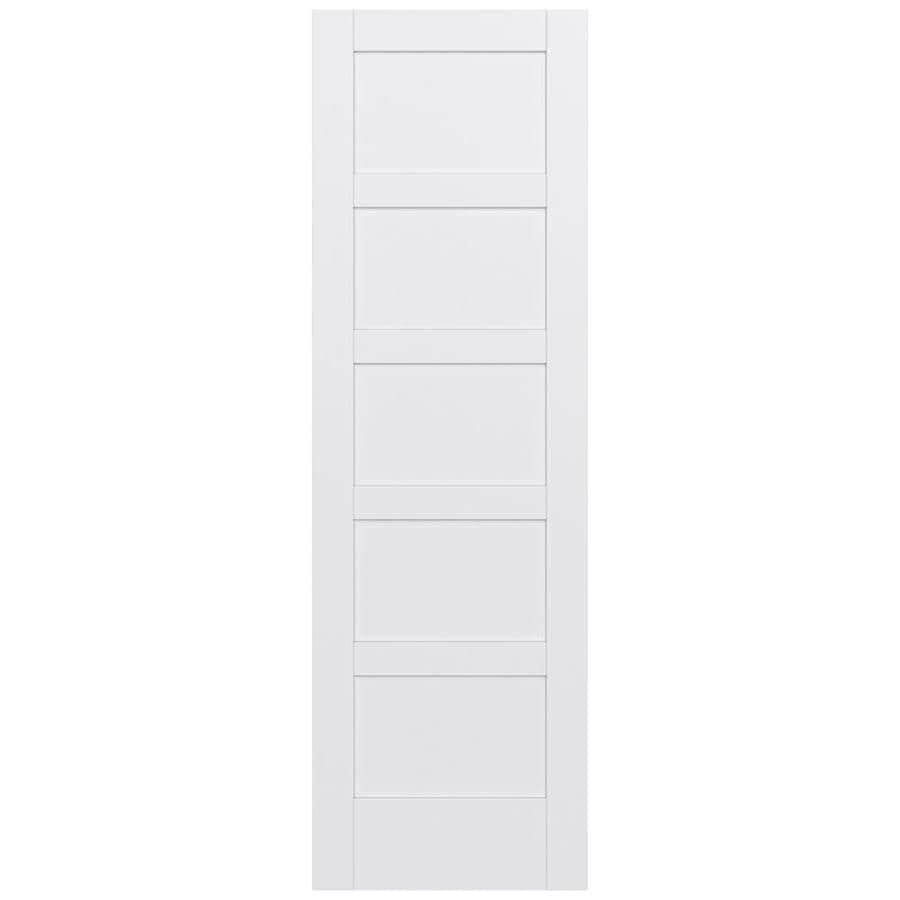 JELD-WEN MODA 5-panel Equal Pine Slab Interior Door (Common: 30-in X 96-in; Actual: 30-in x 96-in)
