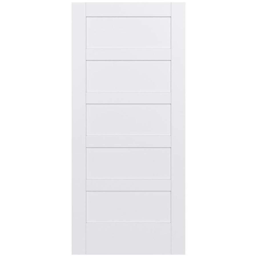 JELD-WEN Moda Solid Core 5-Panel Square Slab Interior Door (Common: 36-in x 80-in; Actual: 36-in x 80-in)