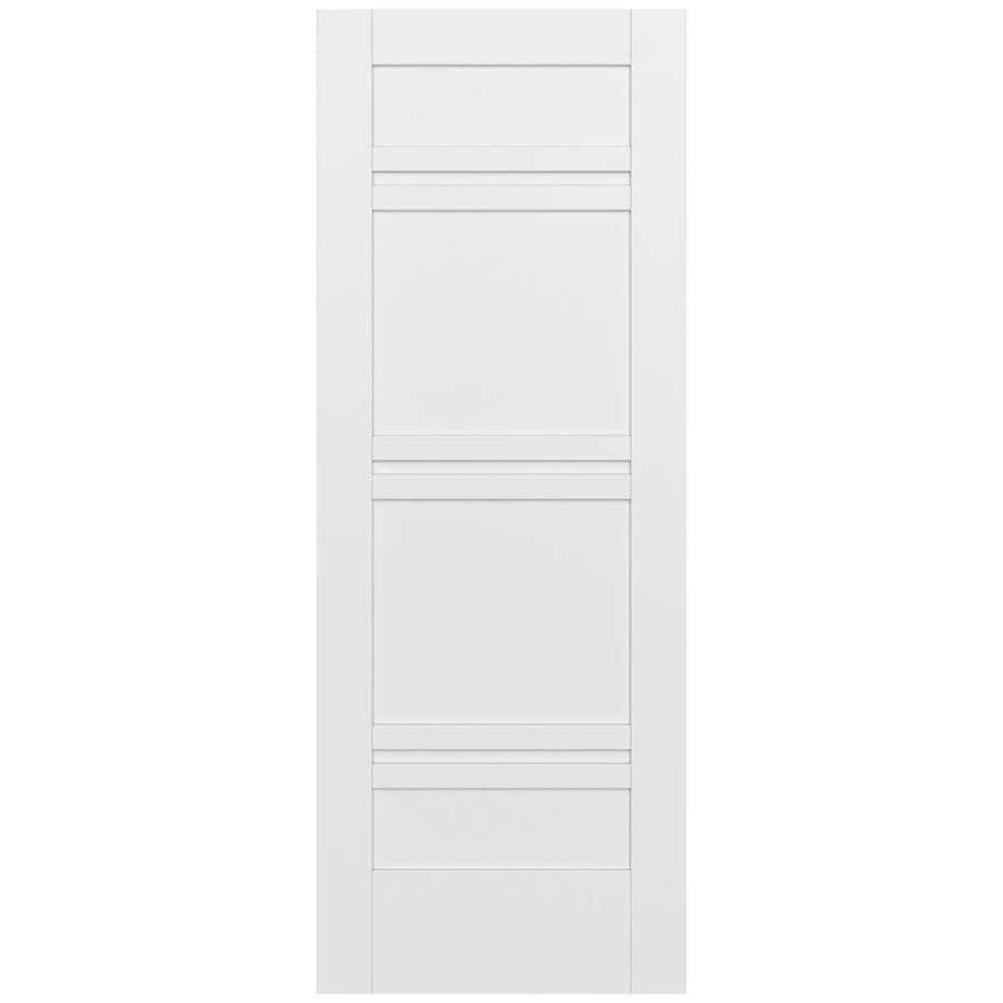 JELD-WEN Moda Solid Core 7-Panel Slab Interior Door (Common: 30-in x 80-in; Actual: 30-in x 80-in)