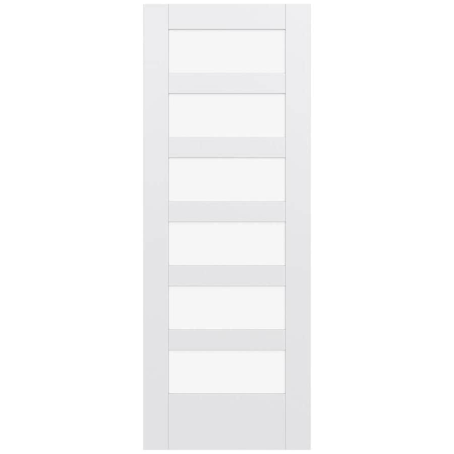 JELD-WEN MODA Primed Clear Glass Wood Pine Slab Interior Door (Common: 28-in X 80-in; Actual: 28-in x 80-in)