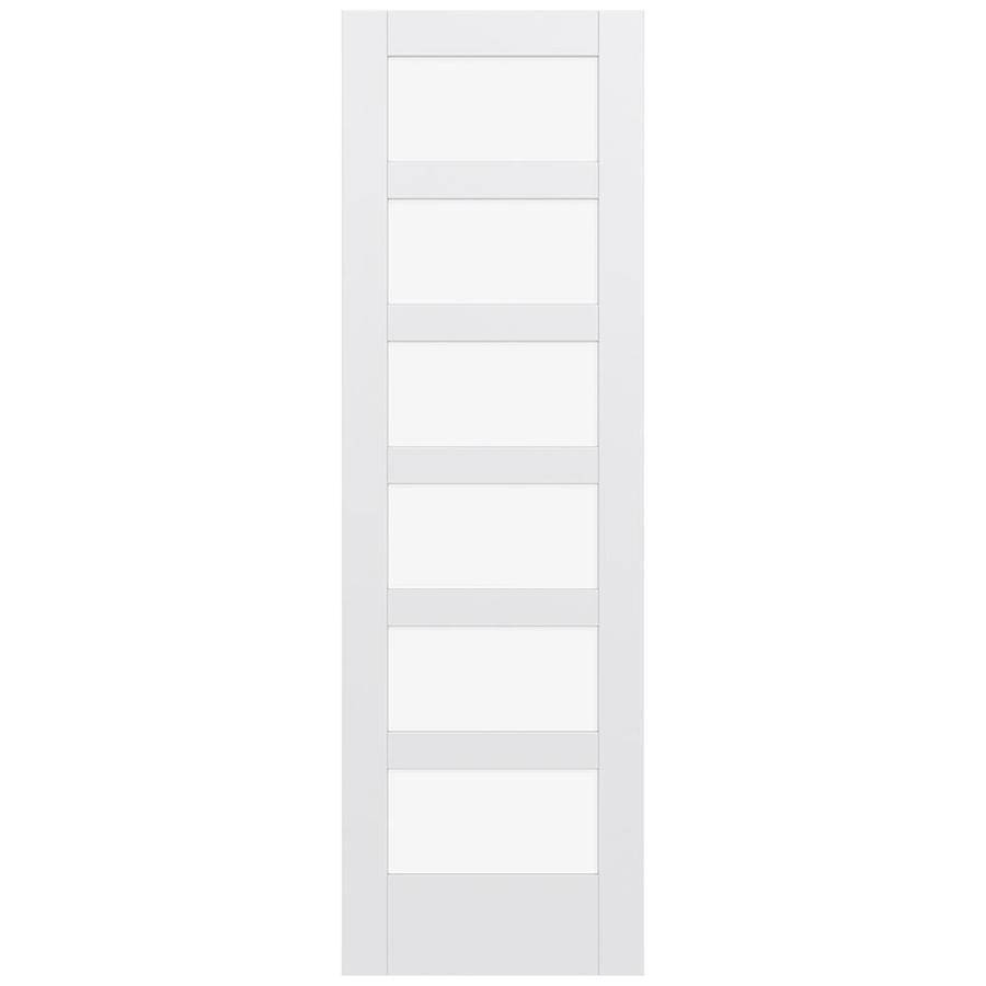 JELD-WEN Moda Solid Core 6-Lite Clear Glass Slab Interior Door (Common: 28-in x 96-in; Actual: 96-in x 96-in)