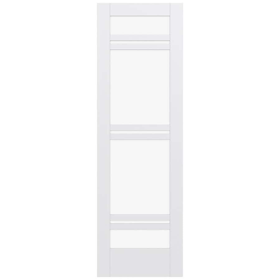 JELD-WEN MODA Primed Clear Glass Slab Interior Door (Common: 24-in x 96-in; Actual: 96-in x 96-in)