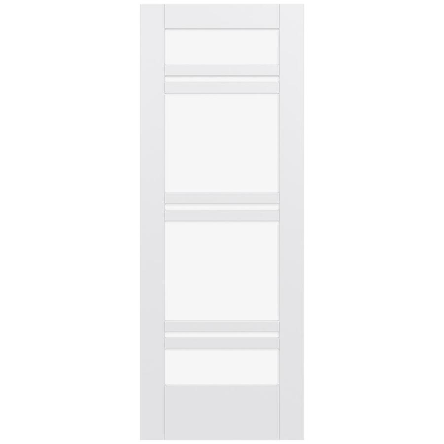 JELD-WEN MODA Primed Clear Glass Slab Interior Door (Common: 30-in x 80-in; Actual: 80-in x 80-in)