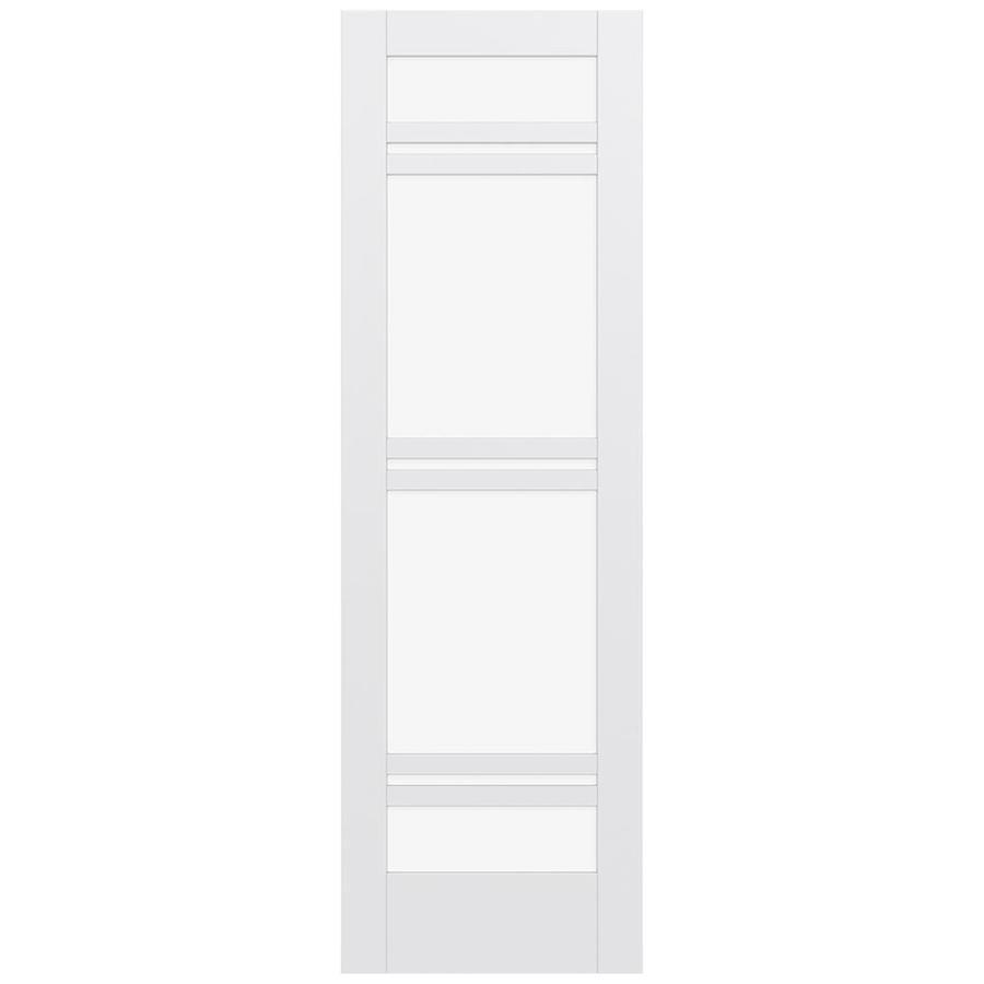 JELD-WEN Moda Solid Core 7-Lite Clear Glass Slab Interior Door (Common: 32-in x 96-in; Actual: 96-in x 96-in)