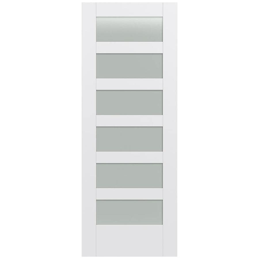 JELD-WEN MODA Primed Frosted Glass Slab Interior Door (Common: 30-in x 80-in; Actual: 30-in x 80-in)