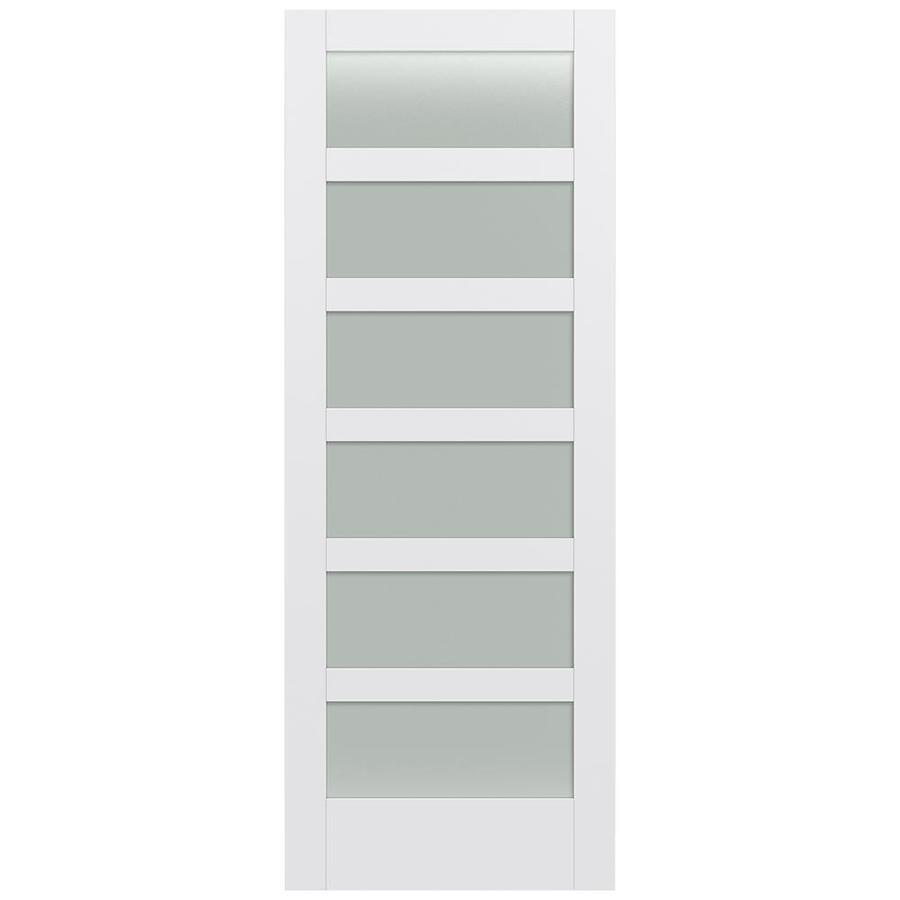 JELD-WEN MODA Primed Frosted Glass Slab Interior Door (Common: 36-in x 96-in; Actual: 36-in x 96-in)