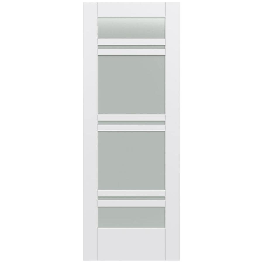 JELD-WEN MODA Primed Frosted Glass Slab Interior Door (Common: 24-in x 80-in; Actual: 24-in x 80-in)