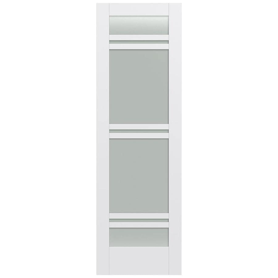 JELD-WEN Moda Solid Core 7-Lite Frosted Glass Slab Interior Door (Common: 24-in x 96-in; Actual: 24-in x 96-in)