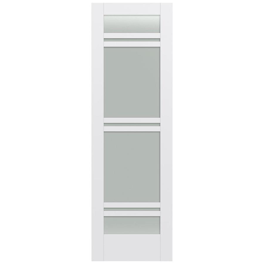 JELD-WEN Moda Solid Core 7-Lite Frosted Glass Slab Interior Door (Common: 30-in x 96-in; Actual: 30-in x 96-in)