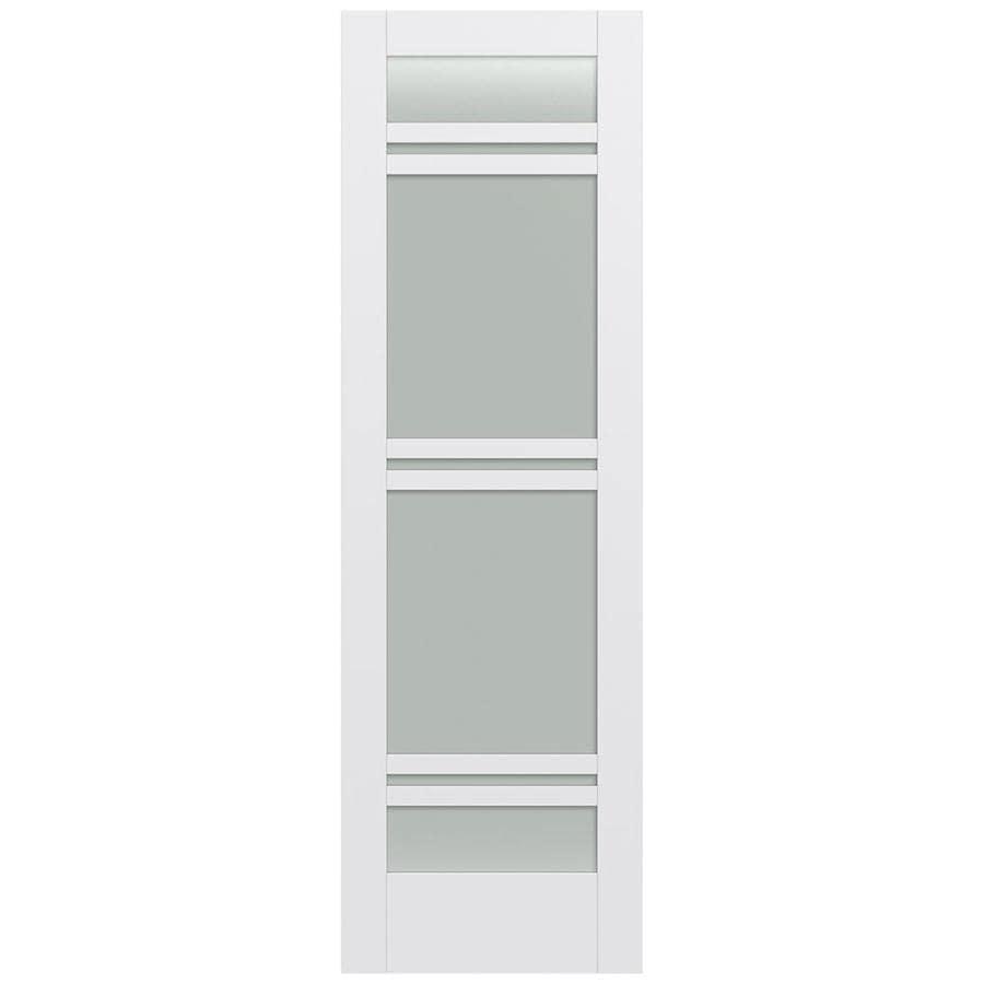 JELD-WEN Moda Solid Core 7-Lite Frosted Glass Slab Interior Door (Common: 32-in x 96-in; Actual: 32-in x 96-in)