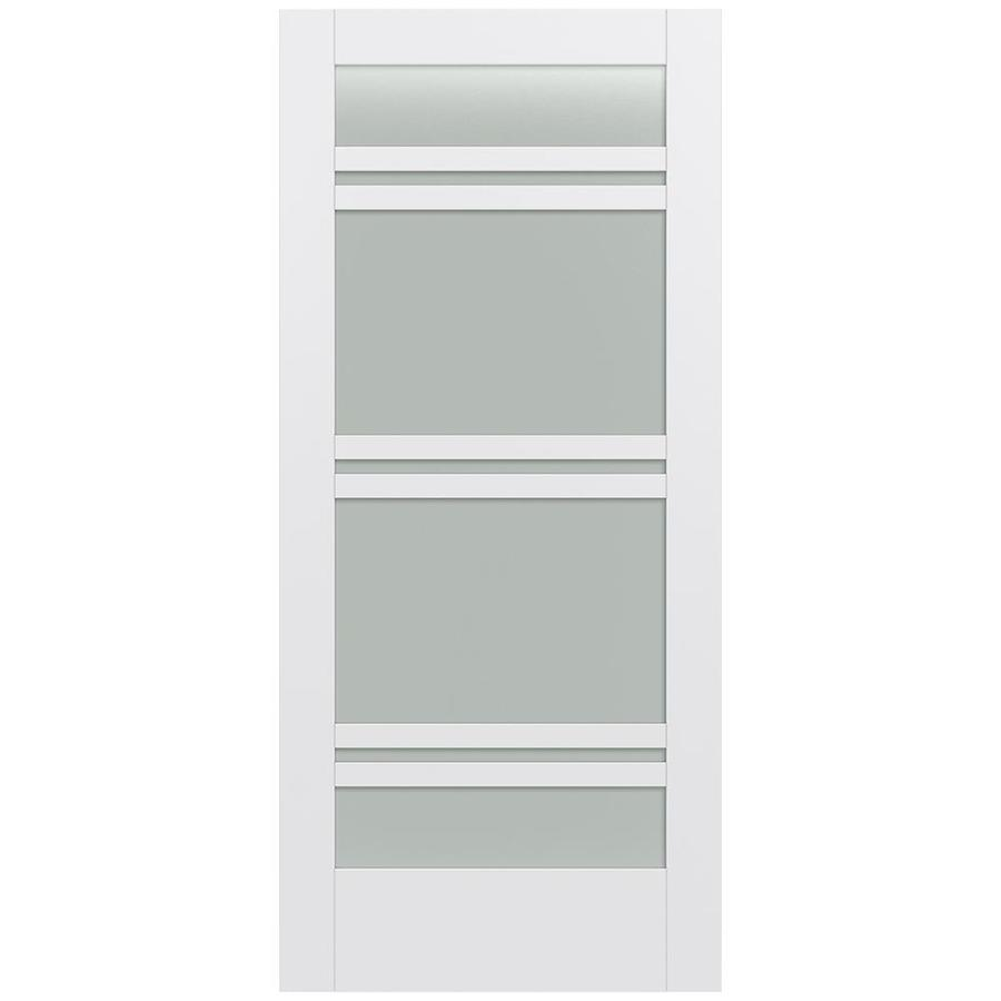 JELD-WEN MODA Primed Frosted Glass Slab Interior Door (Common: 36-in x 80-in; Actual: 36-in x 80-in)