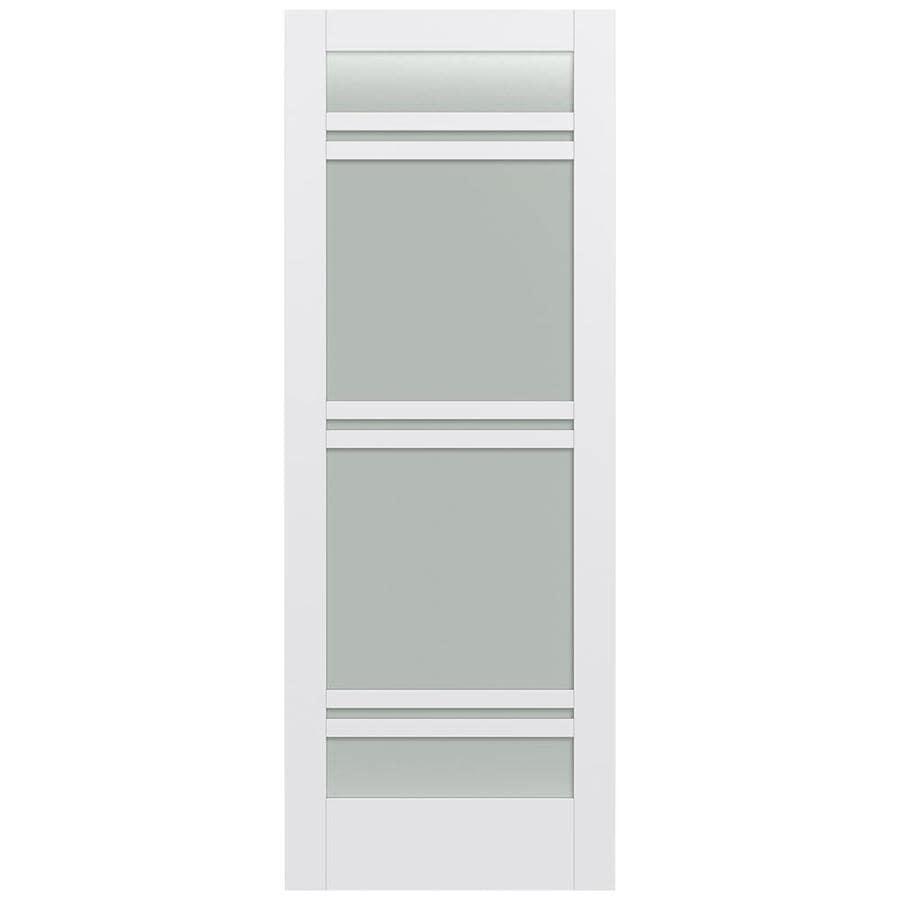 JELD-WEN MODA Frosted Glass Pine Single Prehung Interior Door (Common: 36-in x 96-in; Actual: 37.5600-in x 97.6900-in)