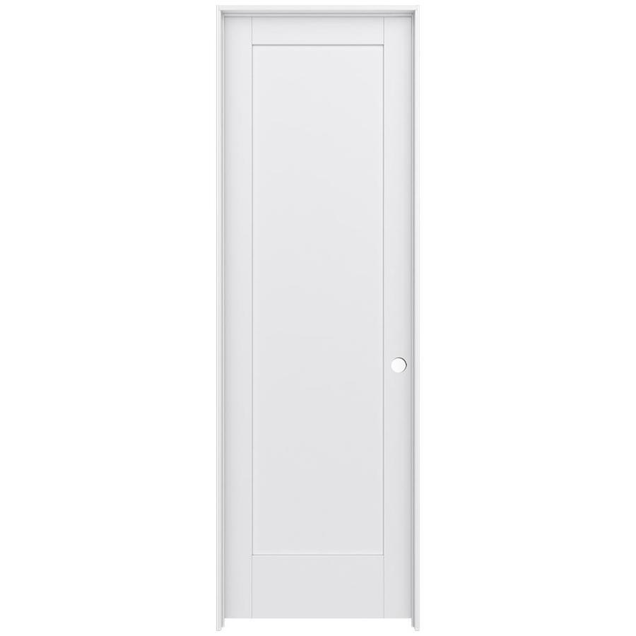 JELD-WEN MODA Primed Wood Pine Single Prehung Interior Door (Common: 24-in X 96-in; Actual: 25.5625-in x 97.6875-in)
