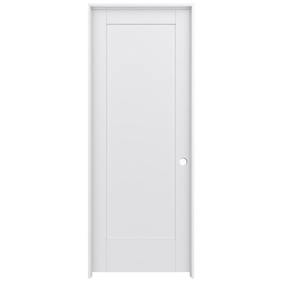 JELD-WEN MODA Primed Wood Pine Single Prehung Interior Door (Common: 28-in X 80-in; Actual: 29.5625-in x 81.9875-in)